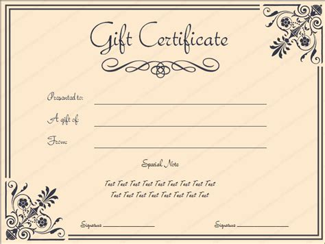 pin templates  business gift certificate templates