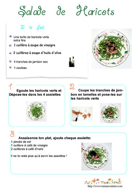 fiche recette de cuisine imprimer la recette de la salade de haricots verts