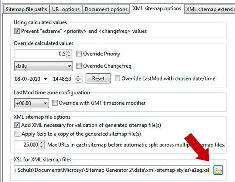 Xsl Stylesheet Transformation With Xml Sitemaps