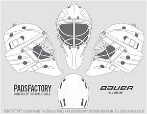goalie mask template vector images With bauer goalie mask template