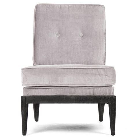 cherise regency silver grey velvet accent chair