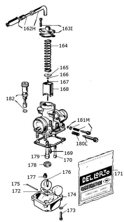 Two Cycle Carburetor Diagram by Mini Rok Carburetor Parts Vortex Mini Rok Engine Parts