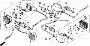 Honda Motorcycle 1987 Oem Parts Diagram For Turn Signal