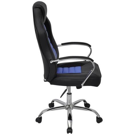 chaise de bureau en cuir vidaxl chaise de bureau en cuir artificiel bleu vif