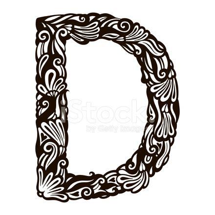letter d floral design stock vector 169 kudryashka 3233753 floral letter d stock vector freeimages 40767