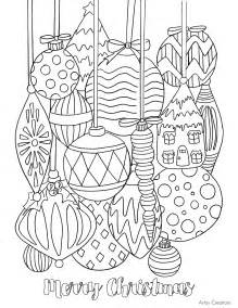 free ornament coloring page tgif this is