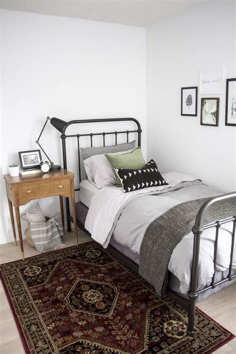 metal beds black iron ikea bed frame in rustic cottage