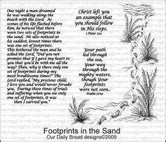 "Footprints in the Sand Poem -12"" x 12"" Canvas Frame ..."