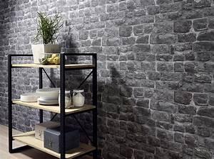 Mur Effet Brique : papiers peints effet mati re on adore elle d coration ~ Melissatoandfro.com Idées de Décoration