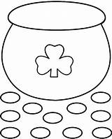 Pot Gold Crafts Coloring Printable Template St Patricks Pages Patrick Preschool Bigactivities March Outline Craft Printables Paper Activities Rainbow 2009 sketch template