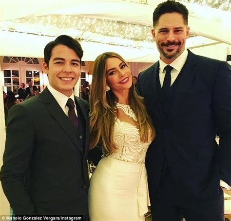 sofia vergara husband joe sofia vergara swears an in intricate white dress as she