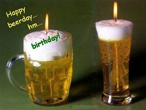 Happy Beer Day Birthday Candles In Beer Glasses