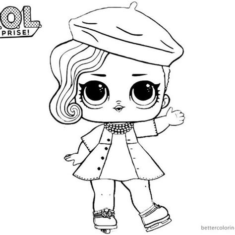 LOL Surprise Coloring Pages Posh Lol dolls Coloring