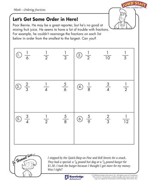 lets   order   view fractions worksheets