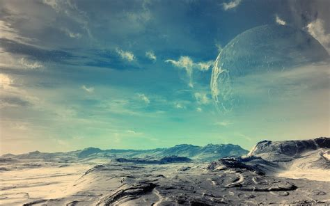 planet sky land hd wallpaper