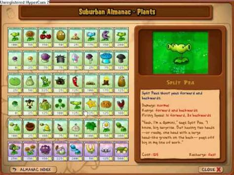 plants vs zombies all plants