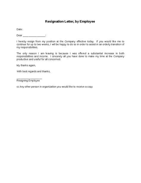 employee departure letters sample format  writing