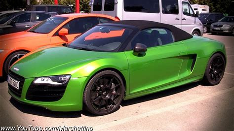 green audi   spyder youtube