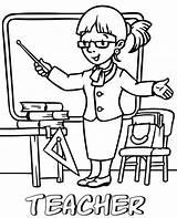 Teacher Coloring Printable Mewarnai Template Sheet Topcoloringpages Halaman Professions Wanita Guru Anak Children sketch template