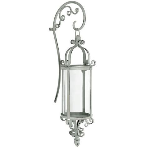 metal wall candle holder sconce shabby vintage chic cream