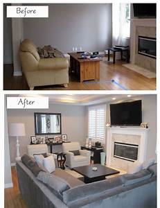How to efficiently arrange the furniture in a small living for Sectional couch living room layout