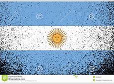 Argentina Grunge Flag Banner Illustration Stock Image