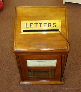 antiques atlas a fine oak in house letter box With oak letter box