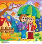 Rainy Weather Theme Im...