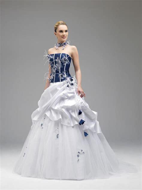 discount annie couture  royal blue  white wedding