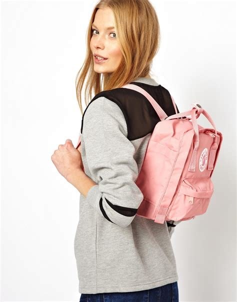 mini shoulder pouch lyst fjallraven mini backpack in pink