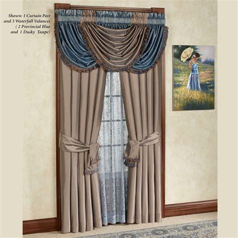 royale waterfall valance window treatment