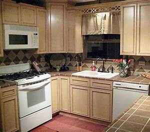 French Antique Glazed Kitchen Cabinets