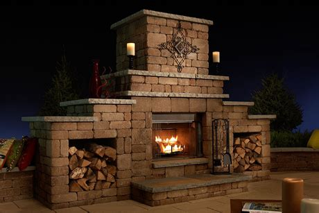 outdoor fireplaces basalite