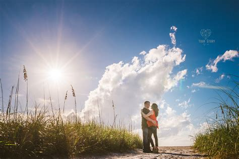 Patricia Cliff Fort Desoto Engagement Session Tampa