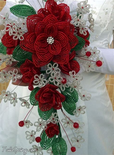 french beaded flower red roses seed bead dreams beaded