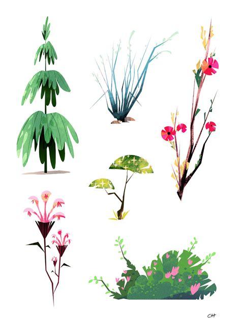 friday foliage enviroments plant illustration