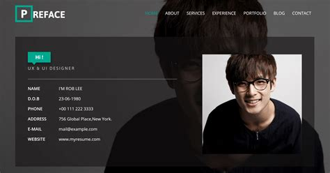 Free Personal Website Templates 25 Best Free Personal Website Templates And Resources