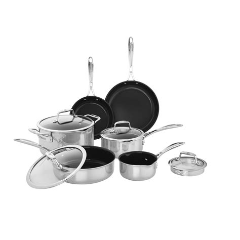 zwilling clad   pc stainless steel cookware set official zwilling shop