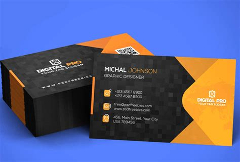 Free Business Card Template Psds For Photoshop 100% Free