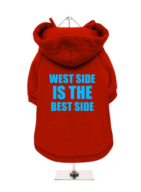 west side    side fleece lined hoodie