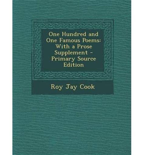 one hundred and one poems roy cook 9781293833537