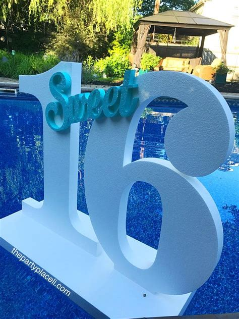 pool party decoration floating prop giant numbers  letters sweet  wedding st birthday