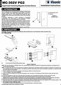 Visonic Mc302vpg2 Vanishing Magnetic Contact Device User