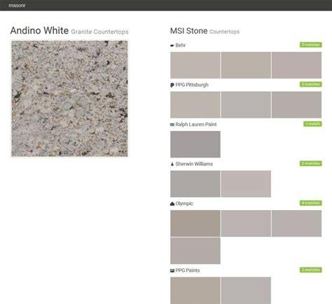 andino white granite countertops countertops msi stone behr ppg pittsburgh ralph