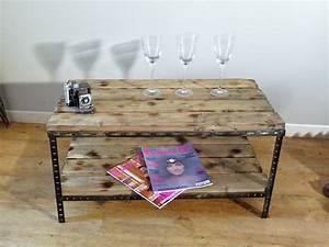 Table De Chevet Industriel : une table basse ou de chevet industrielle indus home factory ~ Teatrodelosmanantiales.com Idées de Décoration