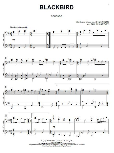 the beatles blackbird piano duet sheetmusicdirect