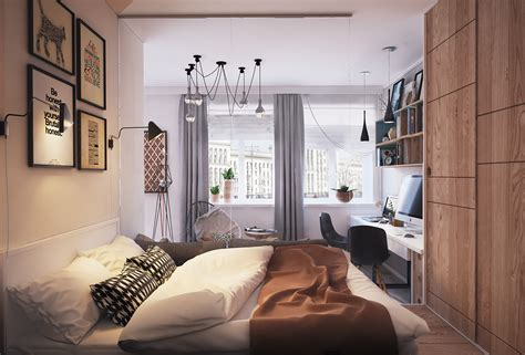 2 Beautiful Small Apartment Plans Under 500 Square Feet (50 Square Meters