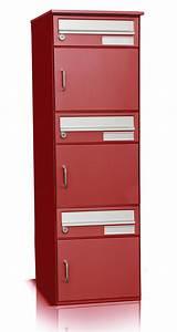 3er Briefkasten Freistehend : 3er briefkastenanlage mit dach f r freistehende montage rot norm ~ Frokenaadalensverden.com Haus und Dekorationen