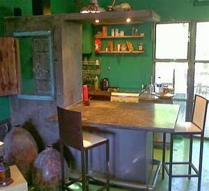 muebles, en, cemento, , u0026quot, light, u0026quot, , estilo, ribera, , mueble, barra, cocina