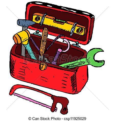 Vektor Illustration Von Werkzeugkasten, Abbildung